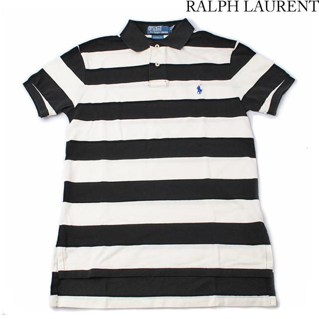 ラルフローレン Ralph Lauren 半袖 ポロシャツ CUSTOM FIT メンズ  コットン ボーダー柄