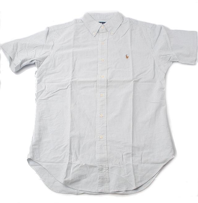 ラルフローレン Ralph Lauren 半袖シャツ CLASSIC FIT メンズ シアサッカー ボタンダウン コットン ストライプ柄