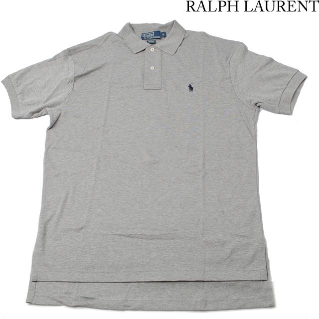 ラルフローレン Ralph Lauren 半袖 ポロシャツ CLASSIC FIT メンズ  コットン グレー