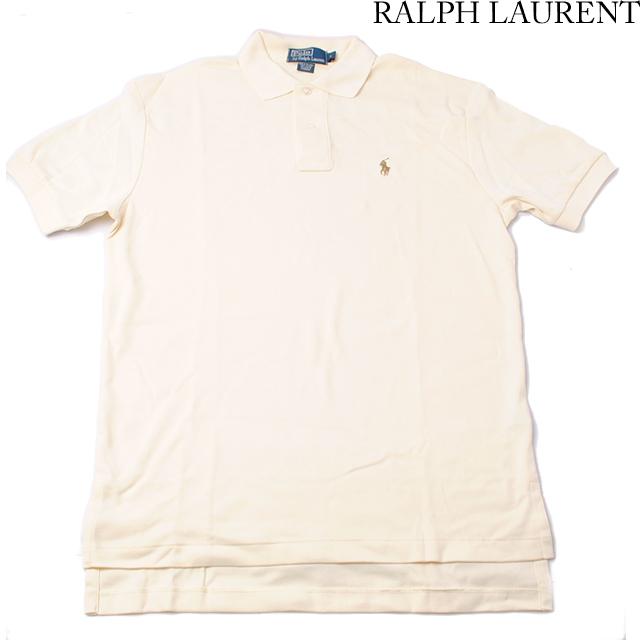 ラルフローレン Ralph Lauren 半袖 ポロシャツ CLASSIC FIT メンズ  コットン クリーム