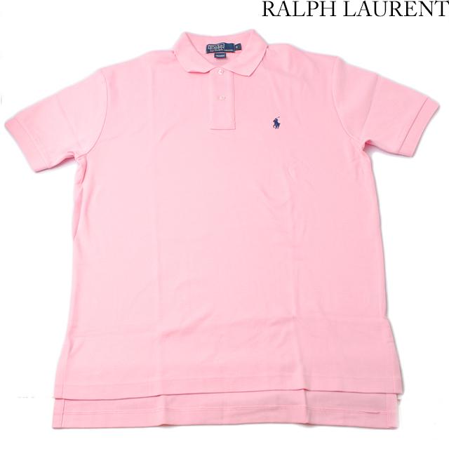ラルフローレン Ralph Lauren 半袖 ポロシャツ CLASSIC FIT メンズ  コットン ピンク