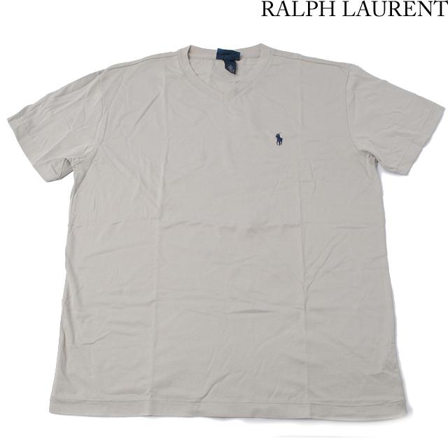 ラルフローレン Ralph Lauren 半袖Tシャツ Vネック コットン グレー Mサイズ