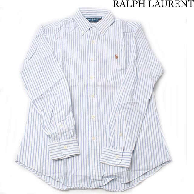 ポロ ラルフローレン Polo Ralph Lauren 長袖 ワイシャツ/Yシャツ ボタンダウン CUSTUM FIT メンズ  コットン ストライプ柄