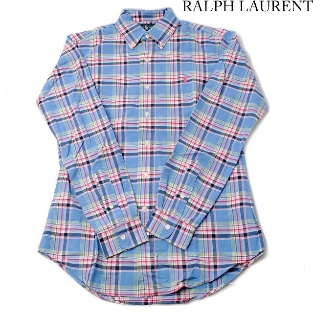 ポロ ラルフローレン Polo Ralph Lauren 長袖 ワイシャツ/Yシャツ ボタンダウン CUSTUM FIT メンズ  コットン チェック柄