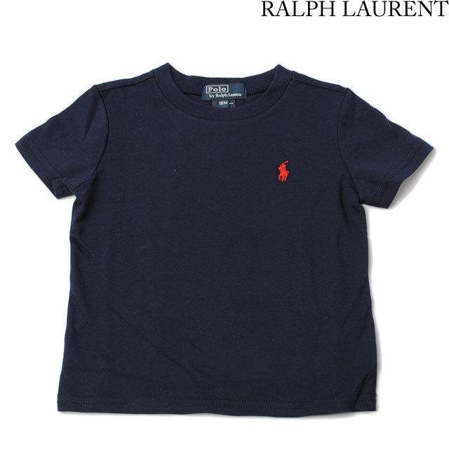 ポロ ラルフローレン Polo Ralph Lauren Tシャツ キッズ/ベビー 半袖 コットン ポニー ネイビー 320131918
