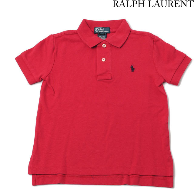 ポロ ラルフローレン Ralph Lauren ポロシャツ キッズ/ベビー 半袖 コットン レッド 321102717