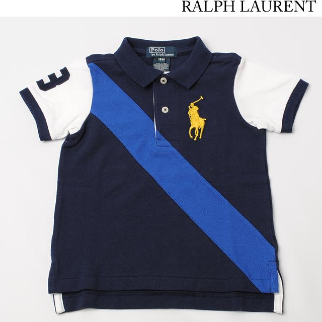 ポロ ラルフローレン Ralph Lauren ポロシャツ キッズ/ベビー 半袖 コットン ビッグポニー ネイビー 380149477