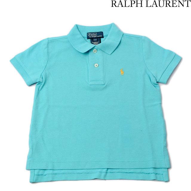 ポロ ラルフローレン Polo Ralph Lauren ポロシャツ キッズ/ベビー 半袖 コットン ライトブルー 381150161