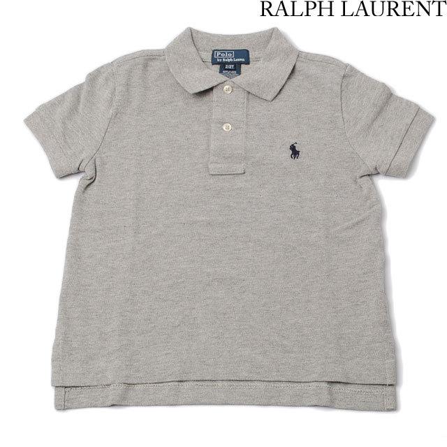 ポロ ラルフローレン Polo Ralph Lauren ポロシャツ キッズ/ベビー 半袖 コットン グレー 321102717