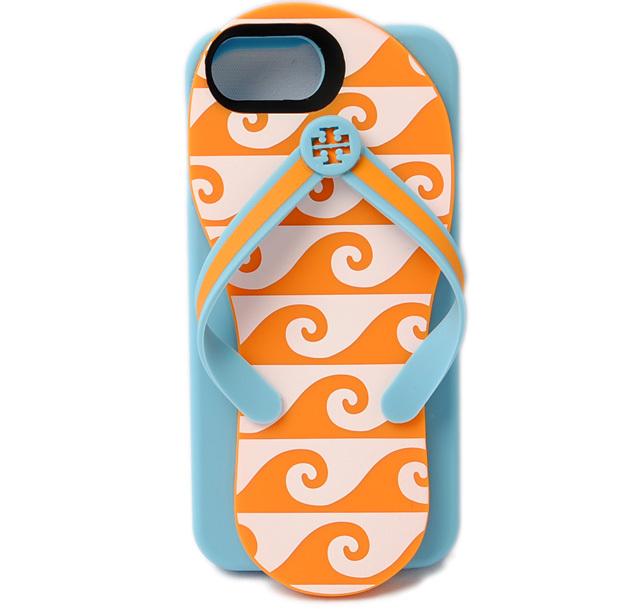 トリーバーチ iPhoneケース/アイフォンケース Tory Burch iPhone6/6S/7 スマートフォン カバーウェッジ フリップ フロップ ORANGE GROVE 35385