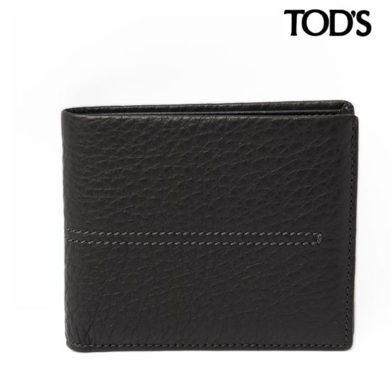 TOD'S トッズ メンズ 2折財布  ソフトレザー/ブラック XAMAAABB300KAFB999 【新品】【送料無料】