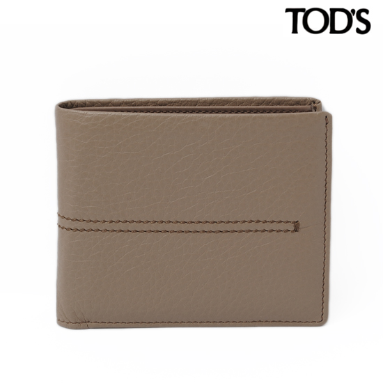 TOD'S トッズ 2折財布  メンズライン ソフトレザー/チャコールグレー XAMAAABB300KAF912B 【新品】【送料無料】