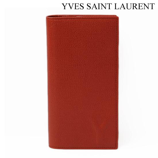 Yves Saint Laurent イヴ・サンローラン メンズ 2折財布 ポピーレッド 247455 BF90N 584【新品】【送料無料】