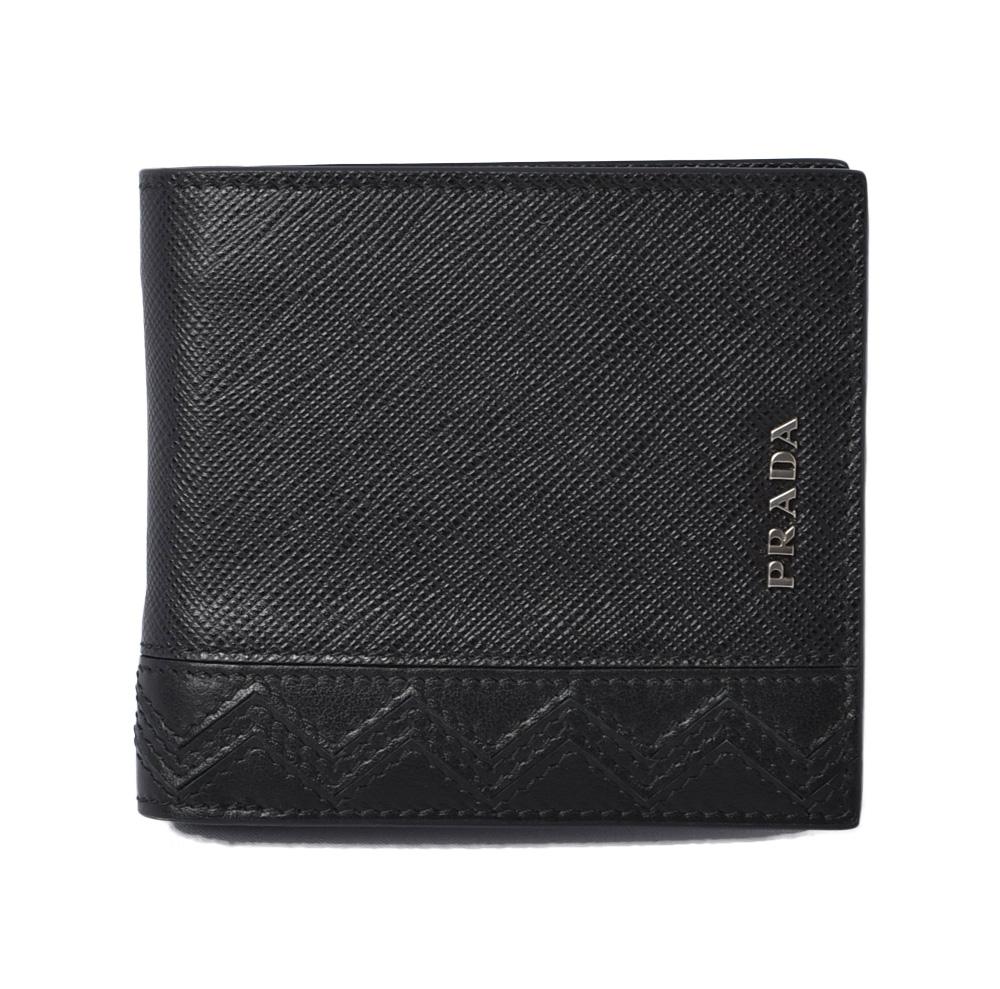 プラダ 財布 メンズ向け PRADA 折財布/札入れ 2MO912 メンズ向け SAFFIANO/サフィアノ ブラック