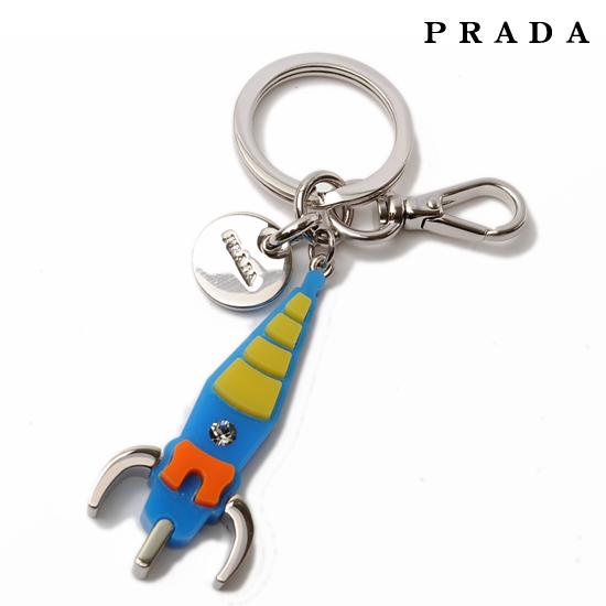 PRADA プラダ フック付キーリング/キーホルダー チャーム ロケット シルバー 1AP582【新品】【送料無料】