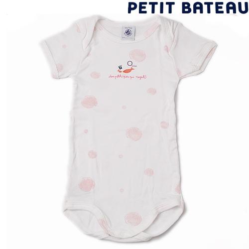 【出産祝いにも☆】プチバトー PETIT BATEAU ベビー アンダーウェア 女の子 さかなプリント 半袖ボディ 新品