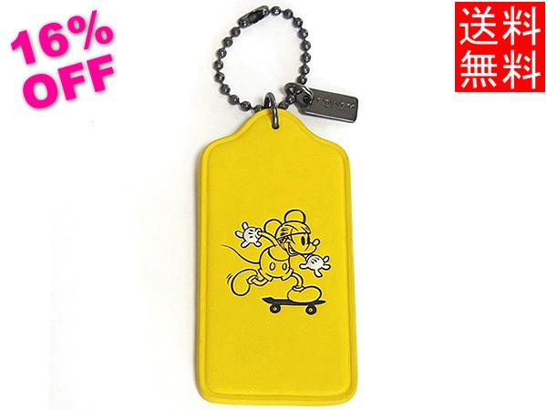 コーチ ミッキーマウス ハングタグF59153黄色