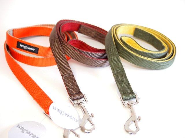 -メール便OK- 2色のコントラストがきれいなContrast Nylon Lead (コントラスト ナイロン リード) Wagwear / Made in USA