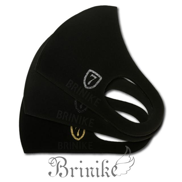 【BRINIKE】デザインマスク◆エンブレム7・ロゴブラック