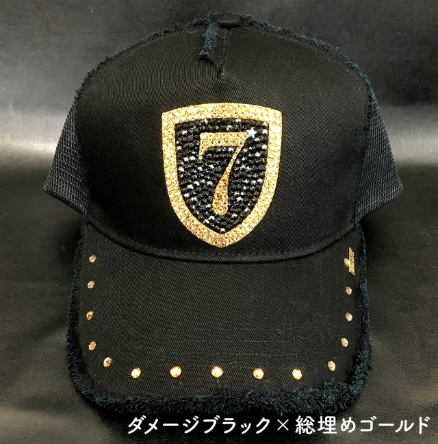 【BRINIKE】クリスタルキャップ◆エンブレム【総埋め】ゴールド