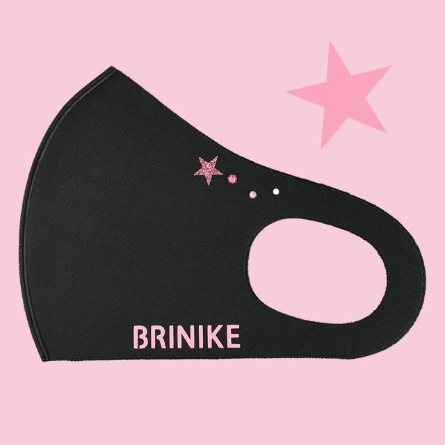 【BRINIKE】スワロマスク◆スター・ピンクグラデーション・ピンクロゴ