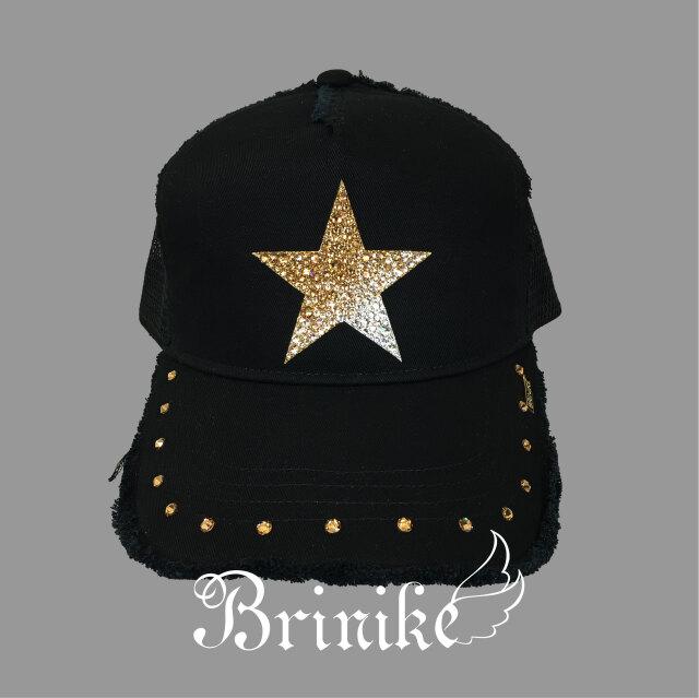 【BRINIKE】スワロキャップ◆スターグラデーション・ゴールド