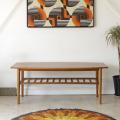 イギリス・コーヒーテーブル・センターテーブル・チーク・マガジンラック・ビンテージ・アンティーク