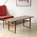 イギリス・コーヒーテーブル・センターテーブル・マガジンラック・チーク・ビンテージ・アンティーク