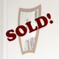イギリス製ビンテージチーク・ミラー・鏡・壁掛け/ミッドセンチュリー・アンティーク雑貨