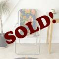 ビンテージ・フラワー・折りたたみ椅子・フォールディングチェア・イギリス製・アンティーク・ガーデン