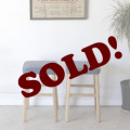 イギリス・キッチンスツール・椅子・ブルー・ビンテージ・アンティーク・レトロ・年代物