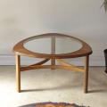 ネイサン・NATHAN・ガラス・コーヒーテーブル・ビンテージ・チーク・アンティーク・ミッドセンチュリー・北欧デザイン・家具