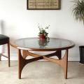 Stonehillストーンヒル・コーヒーテーブル・ラウンドテーブル・ガラステーブル・アンティーク