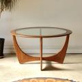 ジープラン・G-plan・コーヒーテーブル・ガラス・アストロ・イギリス・ビンテージ・アンティーク・北欧