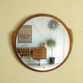イギリス製ビンテージチーク・壁掛けミラー・鏡/北欧・アンティーク