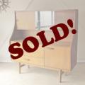 イギリス製ビンテージ【チーク】トールサイドボード・AVALON社製/食器棚アンティーク輸入家具・北欧デザイン012012