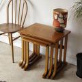 イギリス製NATHANネイサン・ビンテージコーヒーテーブル・ネストテーブル・チーク・アンティーク