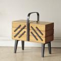 イギリス製ビンテージ・ソーイングボックス・裁縫箱/アンティーク雑貨・北欧