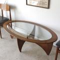イギリス製・G-plan・ジープラン・ガラステーブル・チーク・ガラス・ビンテージ・アンティーク