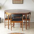 McIntosh・マッキントッシュ・テーブル・円形・ラウンド・チーク・ミッドセンチュリー・ビンテージ・アンティーク・013047−38