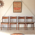 Portwood furniture ポートウッドファニチャー・伸張式ダイニングテーブル5点セット・椅子・イギリス北欧ビンテージ家具