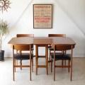ダイニングテーブル・ドロップリーフ・チーク・ビンテージ・アンティーク・北欧・輸入家具