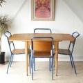 UKビンテージ【チーク】ダイニングテーブル・バタフライ・ドロップリーフ/アンティーク家具