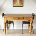 イギリス製アンティーク【パイン材】ダイニングテーブル無垢/ビンテージ家具