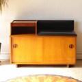 イギリス・テレフォン・ベンチ・スツール・テーブル・チーク・ミッドセンチュリー・ビンテージ・輸入家具