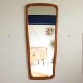 ミラー・壁掛け・鏡・ビンテージ・チーク・デンマーク・北欧・アンティーク