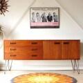 サイドボード・テレビボード・チーク・アイアンレッグ・イギリス・ビンテージ・アンティーク・北欧・輸入家具