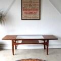 ジープラン・G-plan・コーヒーテーブル・ガラス・マガジンラック付・ビンテージ・家具・アンティーク・北欧・インテリア