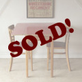 イギリス製ビンテージアンティークFormicaフォーマイカ無垢テーブル&椅子2脚【レッド】古道具シャビーブロカント折り畳み