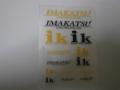イマカツ(IMAKATSU) IMAKATSU/ikアソートステッカー YELLOW/BLACK (転写タイプ)